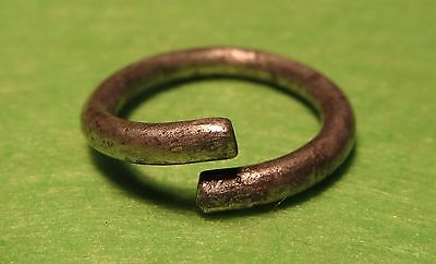 Scythian-Sarmatia Silver Old Ring - Temporal 7-3 th Century BC  2.2 grams