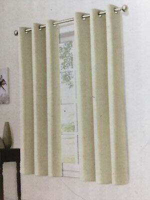 Pair Of Eclipse Window Panel Black Out Curtains Cream Off White 42 X 63 Grommet
