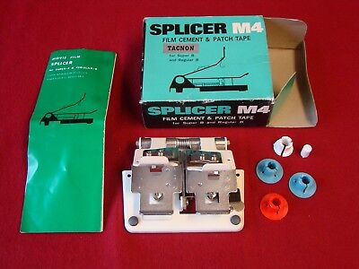 Tacnon Movie Film Splicer M4 With Box Super 8 & Regular 8