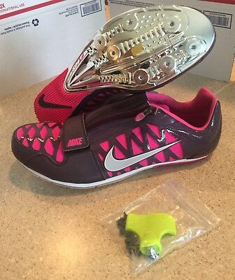 competitive price efd1a 6f46e nike zoom long jump pink spikes