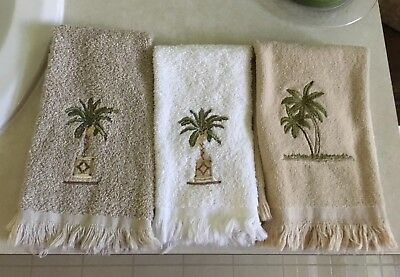 Tropical Palm Tree Hand Towels Set Of 3