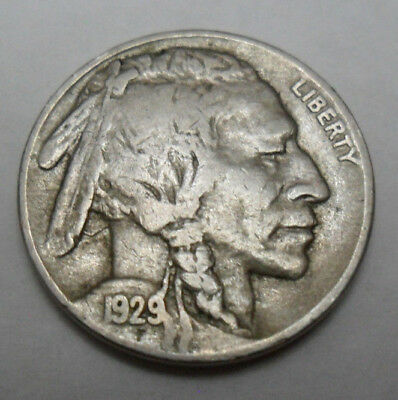 "1929 S Indian Head ""buffalo"" Nickel  *ag Or Better*  **free Shipping**"