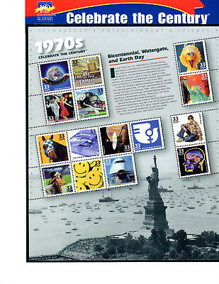 SCOTT # 3189  Celebrate the Century 1970's Issue U.S. Stamps MNH - Sheet of 15