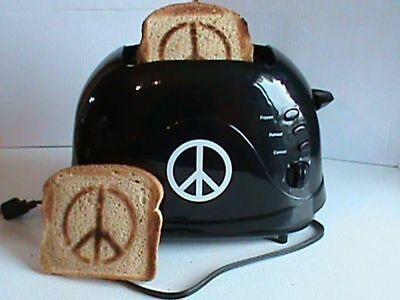 Peace Sign Hippy Toaster