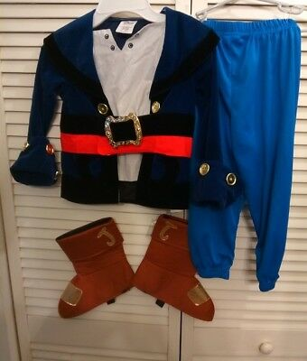 Disney Store Captain Jake and the Never Land Pirates Halloween Costume XXS 3
