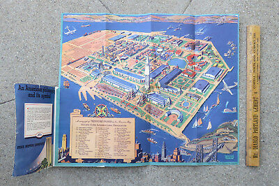1939 Golden Gate International Expo San Francisco Guide w Ruth Taylor Map