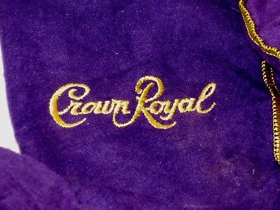 Lot of 8: Crown Royal Bags (used) 5 large 3 small Purple with Gold trim