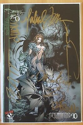 Witchblade (1995) #10 variant Signed by 6. Turner, Wohl, Batt, D-tron+2 Ltd 150
