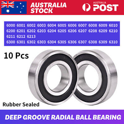 10 pcs Engine 6000~6310 2RS DD VV Rubber Sealed Deep Groove Radial Ball Bearings
