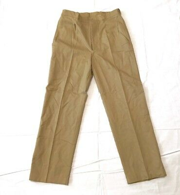 Genuine French Army/ Military Khakhi Chino Cotten Pants Vintage New