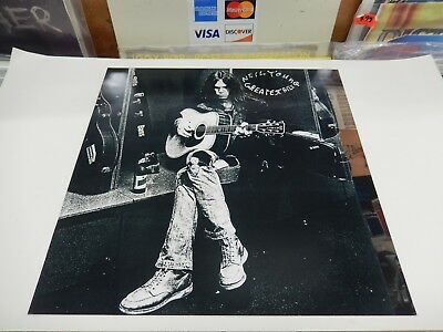 NEIL YOUNG GREATEST HITS RARE! Promo Poster Flat ORIGINAL VINTAGE 2004 FREE SHIP