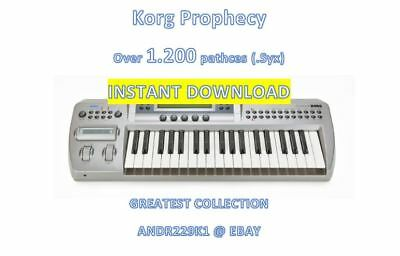 Korg Prophecy - Over +1200 Patches (.Syx) - INSTANT D0WNLOAD LINK