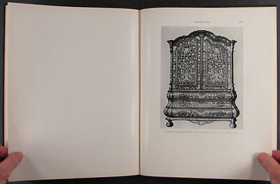 Antique Furniture- Veneered Lacquered Gilt Carved Inlaid & Painted -3 Book Set