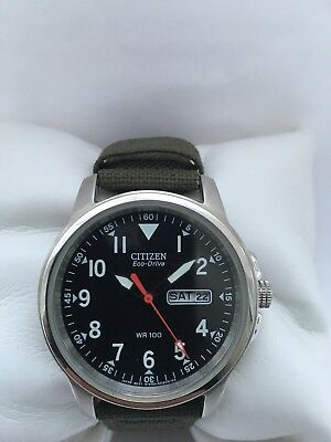 Citizen Automatic Promaster  Day & Date  Arabic Dial Leather  Strap Men's Watch
