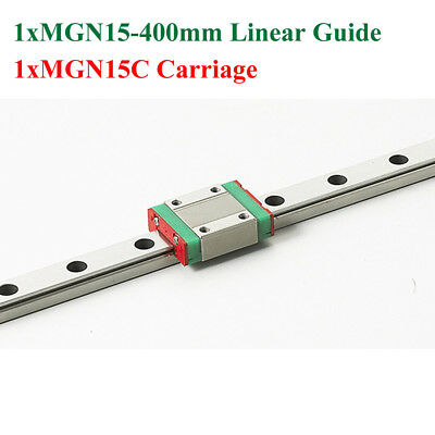 1 Set 15mm miniature linear guide MGN15 400mm linear rail way MGN15C For CNC