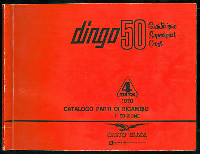 Catalogo Parti di Ricambio MOTO GUZZI Dingo 50 GT- Cross - Super Sport Catalogue