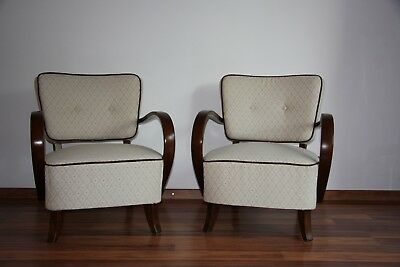 Halabala´s armchairs H-237, art deco style, first half 20th century. Restored.