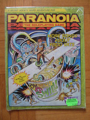 Paranoia More Songs About Food Vats NEU New SEALED English Steve Jackson WestEnd