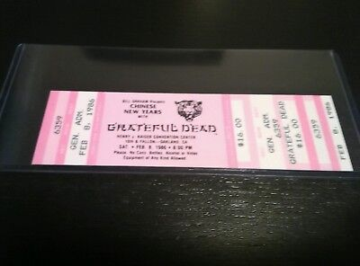 Grateful Dead,Ticket Stub, Unused Mail Order, 02/08/1986, Henry J, Chinese New