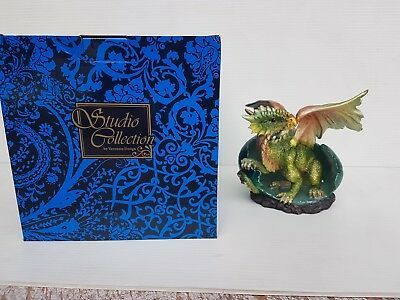Green Dragon Hatching from Egg Statue Veronese Design Studio Collection NEW RARE