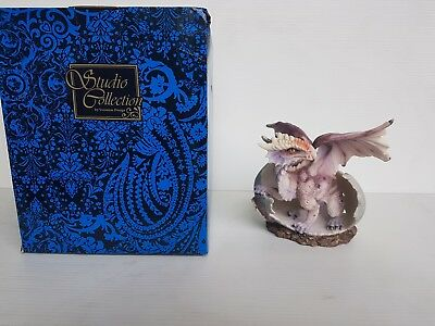 Pink Dragon Hatching from Egg Statue Veronese Design Studio Collection NEW RARE!