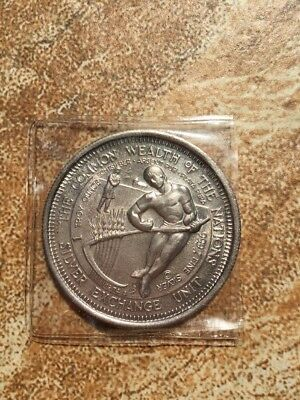 1974 Commonwealth of the Nations 1 Troy oz .999 Fine Silver Round Art Coin Unit