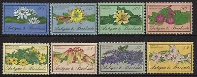 Antigua 1986 Flowers set fine fresh MNH