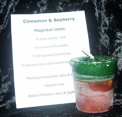Cinnamon Bayberry Candle Crystal Journey Candles FAST LUCK & MONEY magick