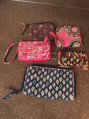 Vera Bradley Mixed Lot of 5 Used Purses Various Designs and Colors