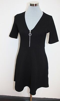 2bacc20d1b1 Urban Outfitters Cooperative Black Dress with Zip Front Detail UK 8 Small