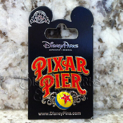 Disney Parks & California Adventure Pixar Pier Logo Pin with Luxo Ball