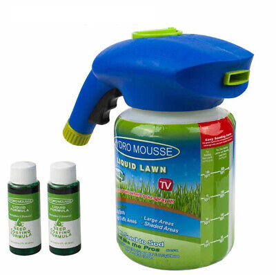 Hydro Mousse Household Seeding System Liquid Spray Seed Lawn Care Grass Shot Pro