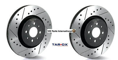 VW Golf MK7 GTI Tarox 340mm SJ Performance Front Brake Discs Upgrade Track Fa...