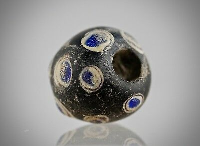 ANCIENT BEADS. MOSAIC.  STRATIFIED EYE 2-4 BC.100% Original artifacts.12