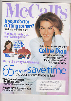 Celine Dion Japan concert guide & Ladie's Home Journal June 2003 & McCall's 2001