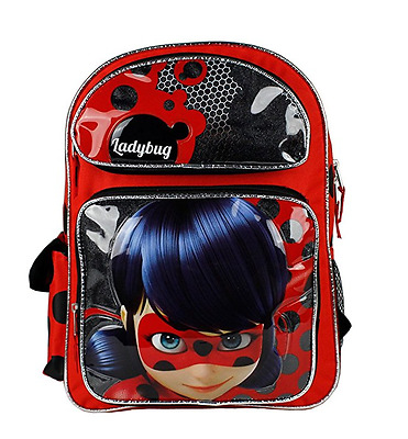"New Nickelodeon Miraculous Ladybug 16"" Large School Backpack"