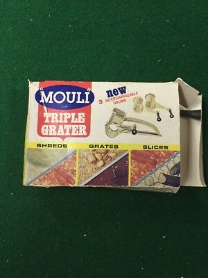 Vintage Mouli Triple Grater Rotary Shredder ONLY TWO DRUMS See Pictures w/box