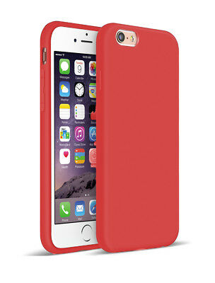 SDTEK Matte Case for iPhone 6s / 6 (Red) Soft Cover (Black)