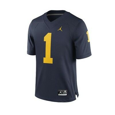 a04c4611f Air Jordan Michigan Wolverines  1 Home Limited Football Jersey Men s Size M