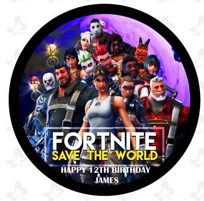 Fortnite Edible Image ICING Cake Topper Decoration PERSONALISED              V1