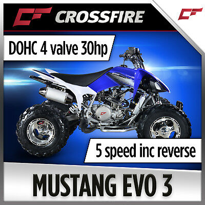 Crossfire Mustang 250cc EVO3 Sports Quad Bike  Keep up with Yamaha Raptor 350