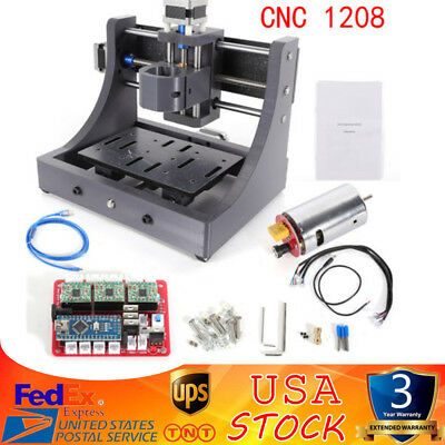 3Axis Mini Mill USB 1208 CNC Router Wood Carving Engraving PCB Milling Machine