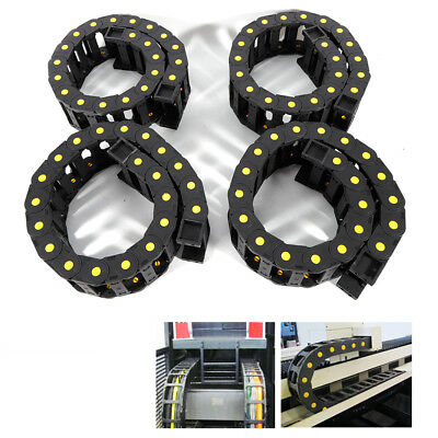 4pc Electrical Plastic cable wire carrier Nylon PA66 roller drag chain Length 1m