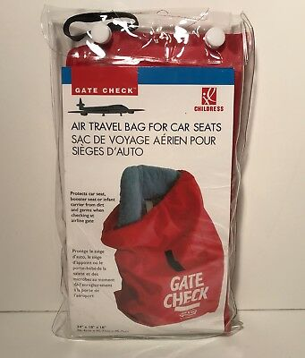 J.L Childress Booster Car Seat Airline Airplane Gate Check Bag Travel