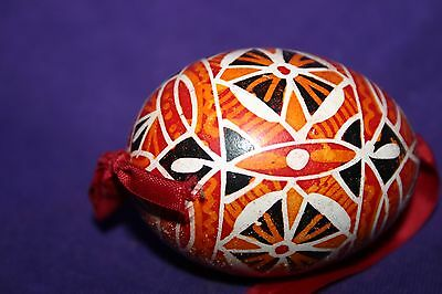 Vintage Hand Painted Empty Egg Shell Ornament c Easter