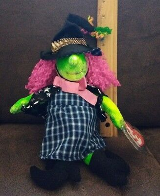 TY Beanie Baby - SCARY the Witch MWMTs Stuffed Animal Toy