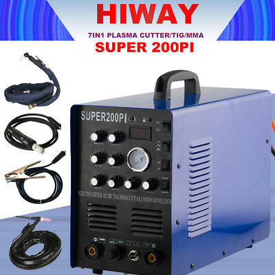 Inverter AC DC PULSE TIG/ARC/CUT MACHINE SUPER200PI Aluminum Welder 220V Hot