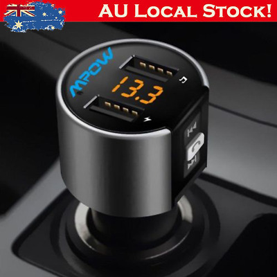 Wireless Bluetooth FM Transmitter Car Kits MP3 Music Player LED Dual USB Charger