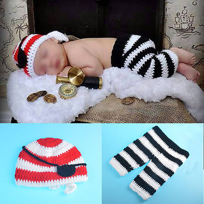 Lovely New Baby Unsex Photo Photography Props Costume Crochet Knitted Outfit Set