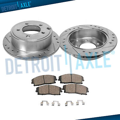 Fit 2007-2009 Chrysler Sebring Front Sport Blank Brake Rotors+Ceramic Brake Pads